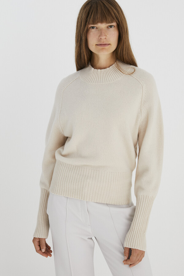 SOFT MERINO CREW NECK PULLOVER CREAM