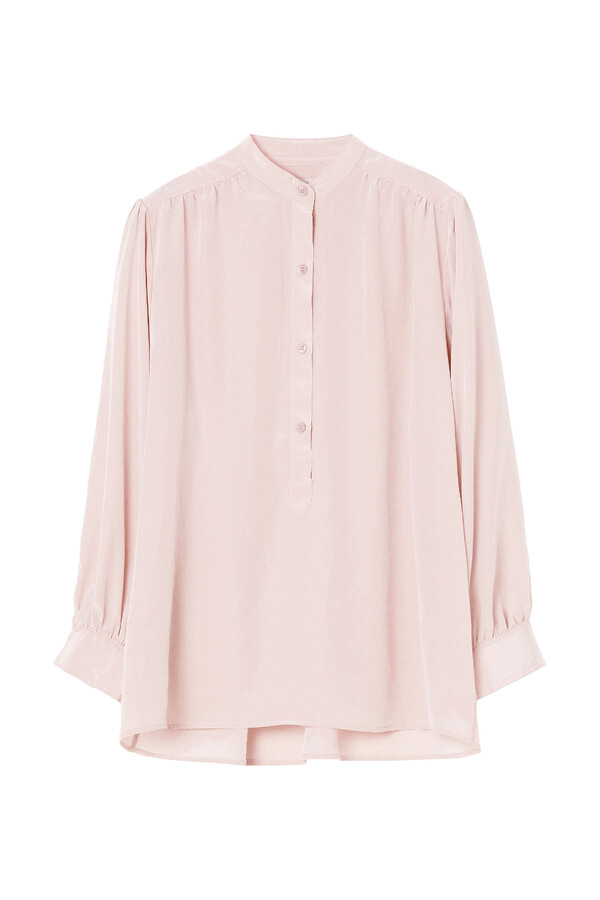 WIDE SLEEVE BLOUSE FADED ROSE