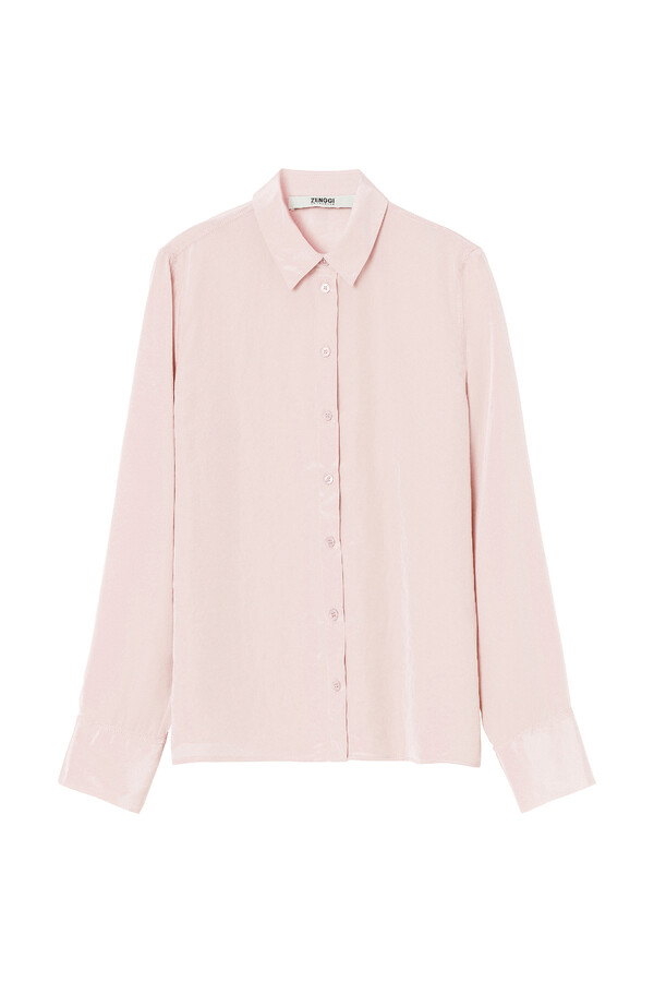 SILKY BLOUSE FADED ROSE