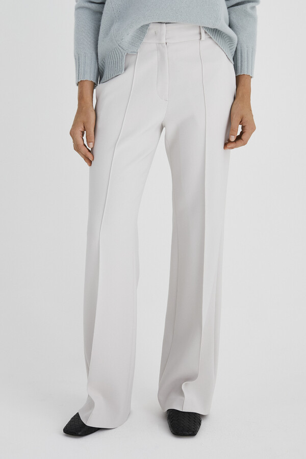 FLARED TAILORED PANTS CREAM