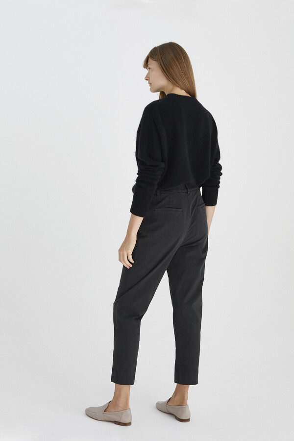 RELAXED TAPERED PANTS OFF BLACK
