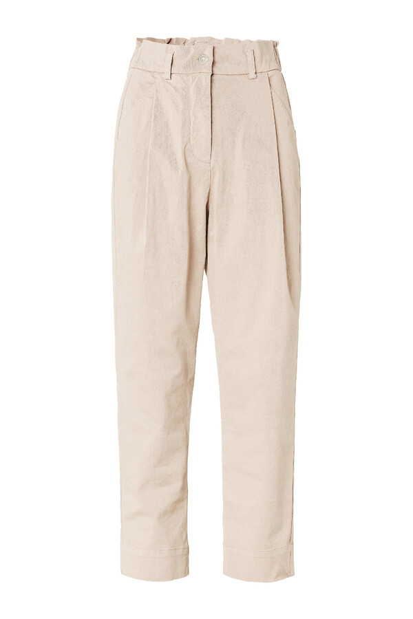 RELAXED TAPERED PANTS GREIGE