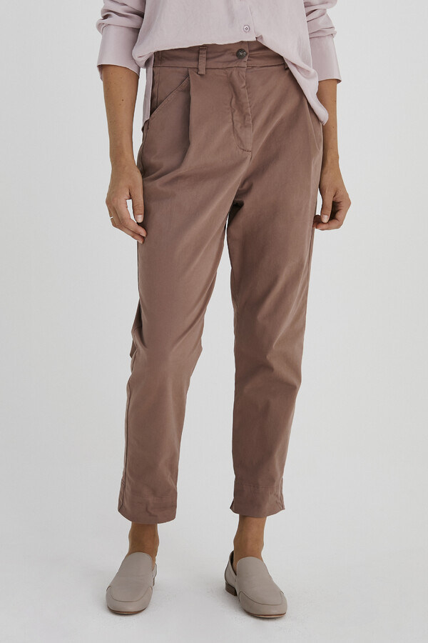 RELAXED TAPERED PANTS PALE MAUVE