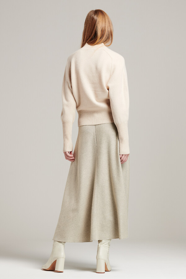LONG SKIRT GREIGE