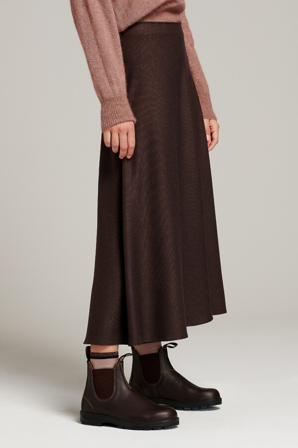 LONG SKIRT WARM BROWN