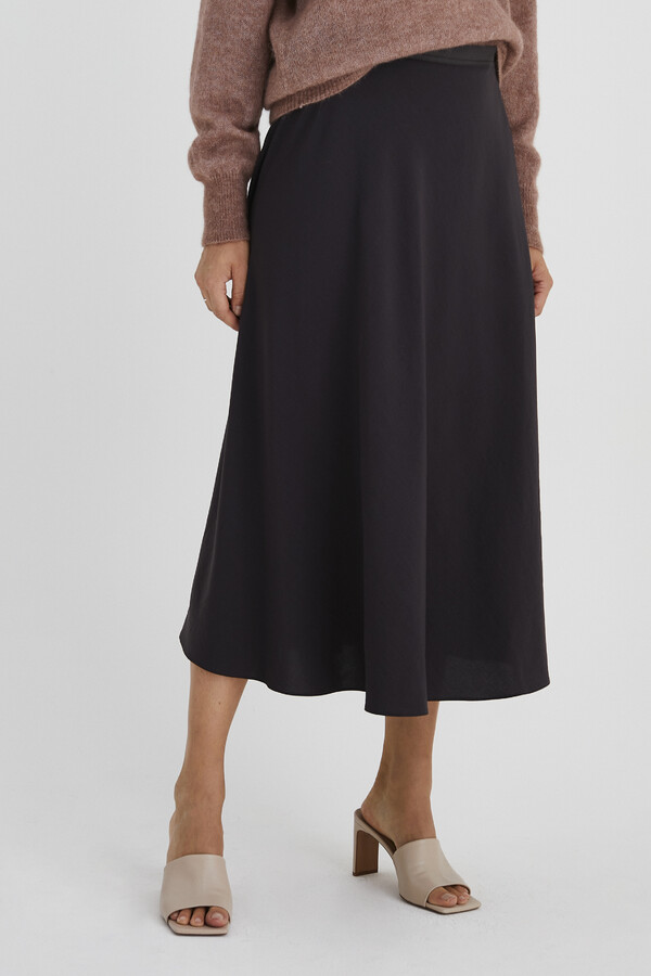 SWAN SKIRT SMOKEY BROWN