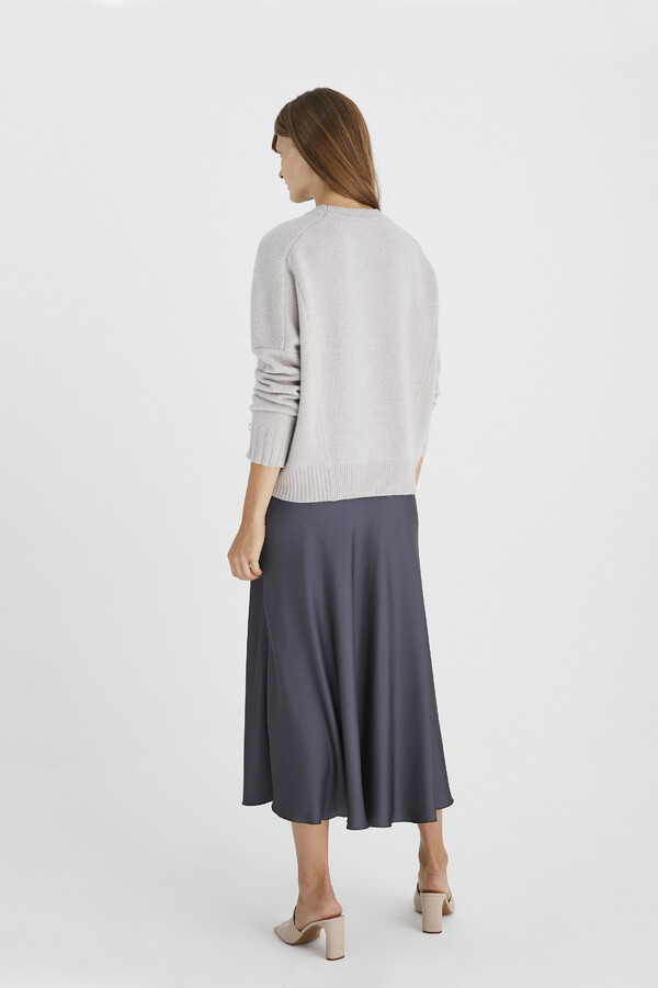 LONG SWAN SKIRT GREY