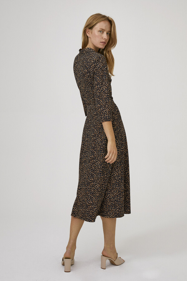 SOFT PRINT SHIRT DRESS TIMBER
