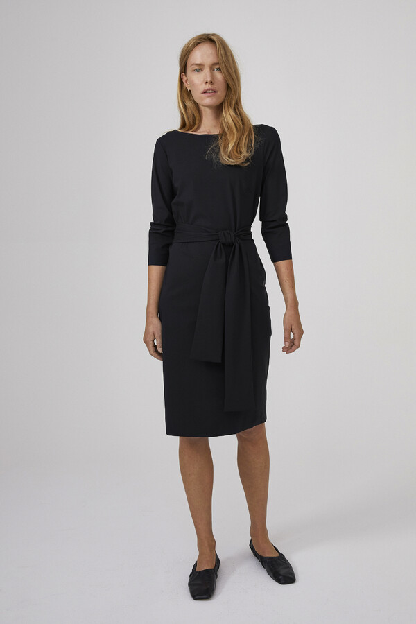 STRETCH DRESS BLACK