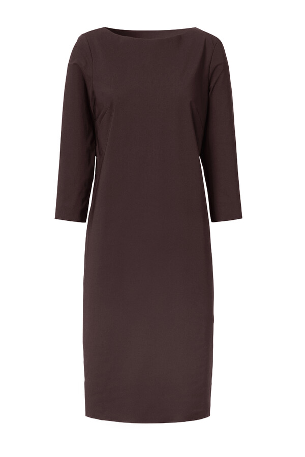 STRETCH DRESS BROWN
