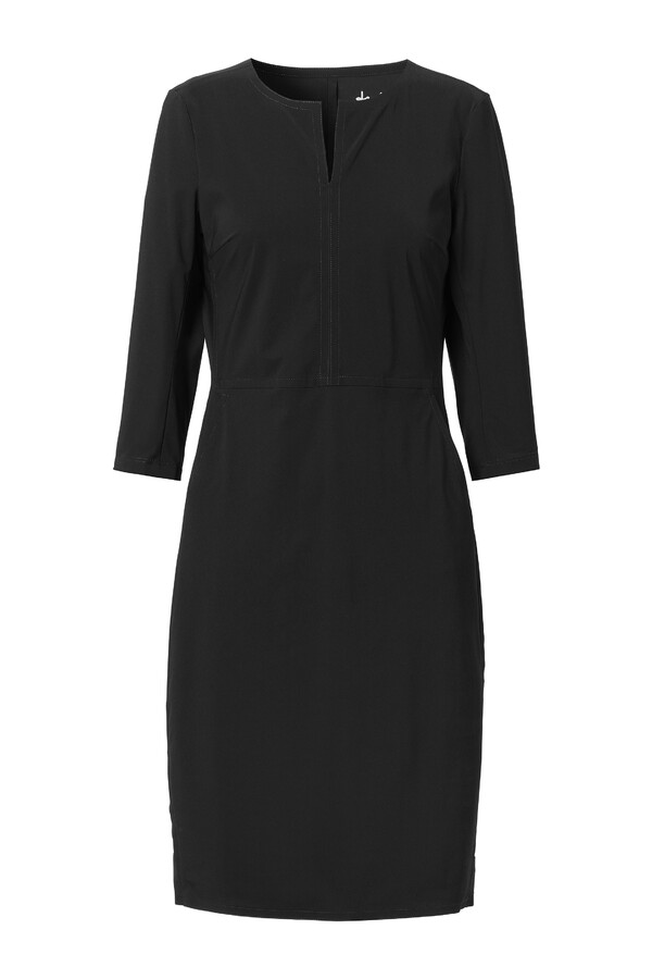 SPORTY SHAPED DRESS BLACK