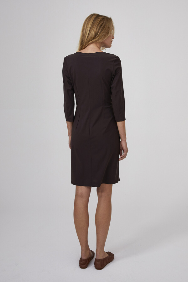 SPORTY SHAPED DRESS BROWN