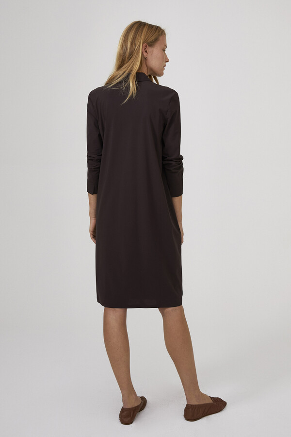 POCKET POLO DRESS BROWN