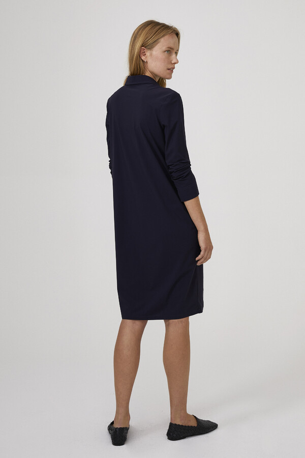 POCKET POLO DRESS INK BLUE