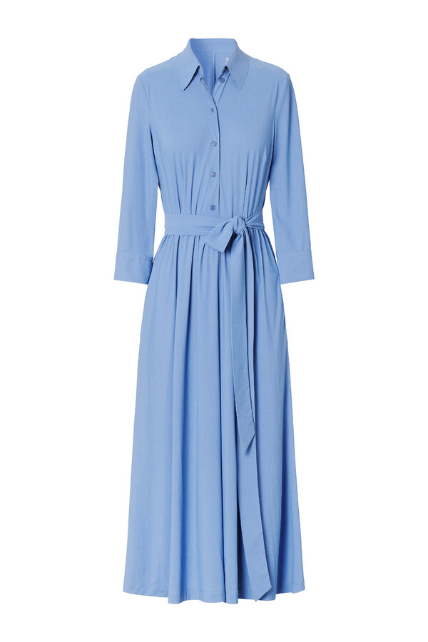 FLOWING SHIRT DRESS BLUEBIRD BLUE