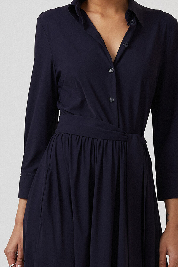 FLOWING SHIRT DRESS INK BLUE