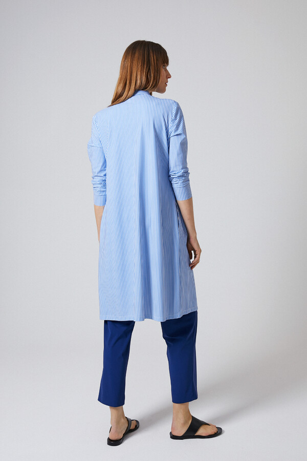 ESSENTIAL SHIRT DRESS STRIPE BLUEBIRD BLUE