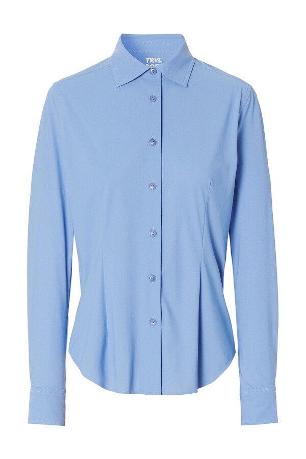 WAISTED SHIRT BLUEBIRD BLUE