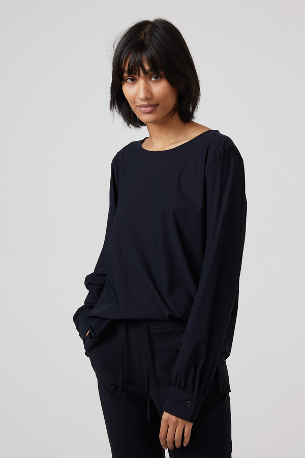 BOATNECK BLOUSE BLACK
