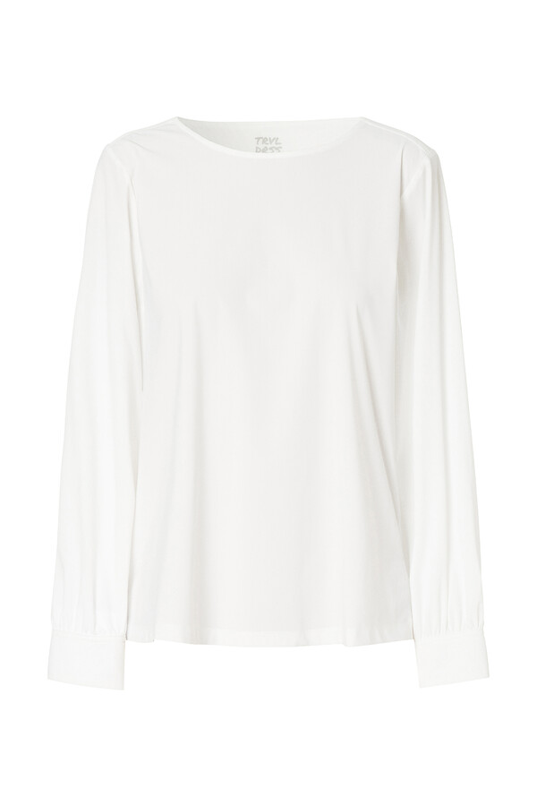 BOATNECK BLOUSE OFF WHITE