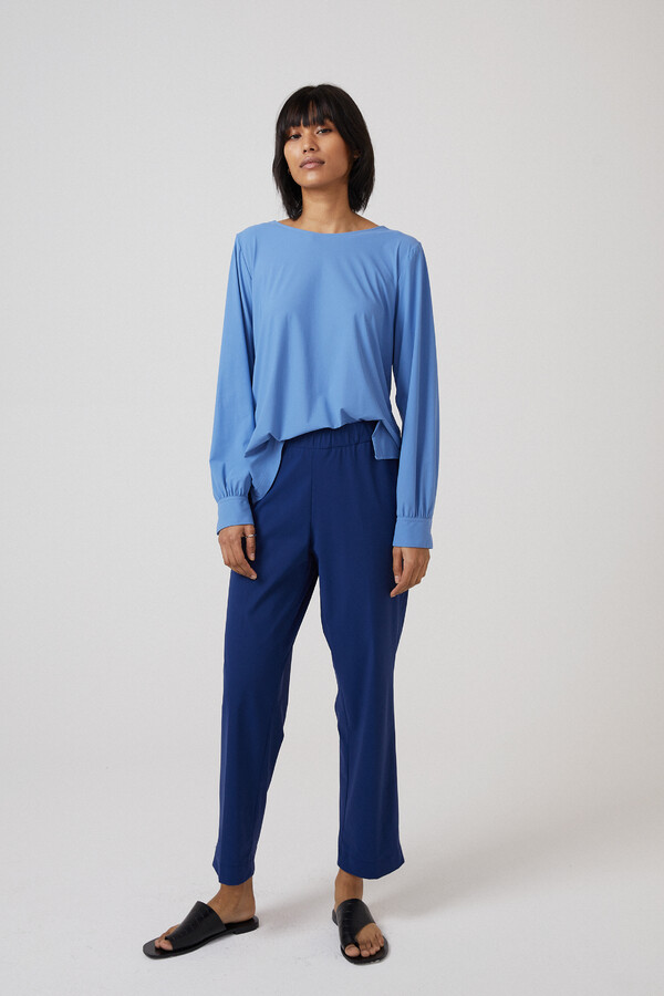 BOATNECK BLOUSE BLUEBIRD BLUE