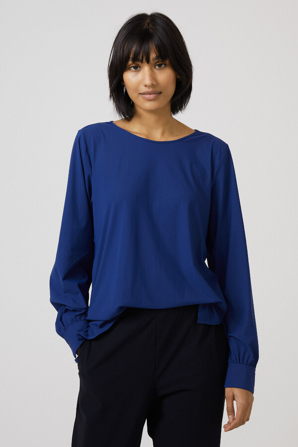 BOATNECK BLOUSE OCEAN BLUE