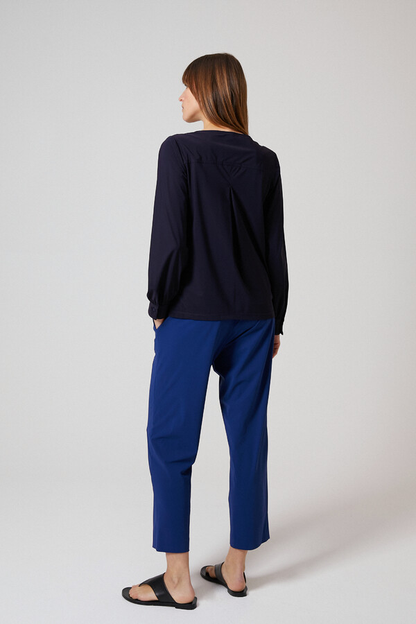 BOATNECK BLOUSE INK BLUE