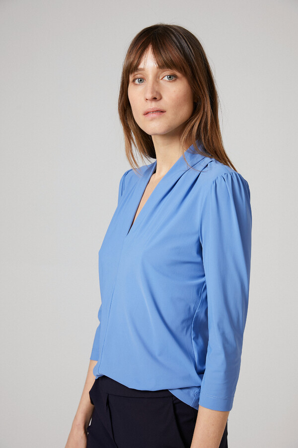 SHORT SLEEVE TOP BLUEBIRD BLUE