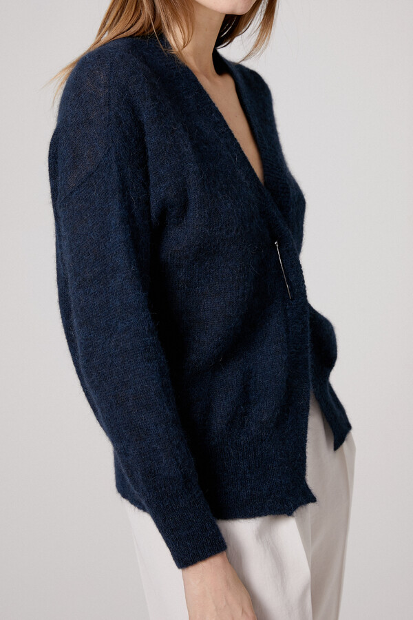 SUMMER ALPACA CARDIGAN DARK BLUE