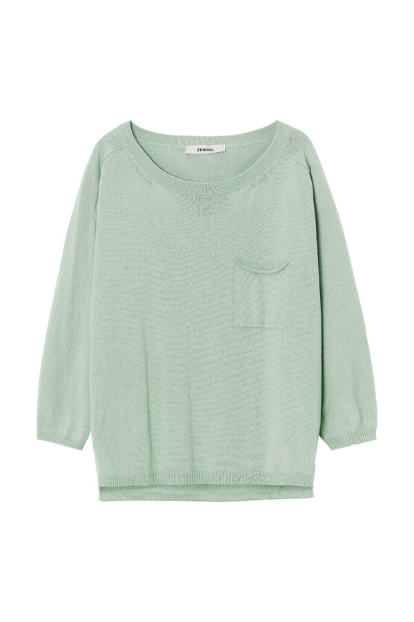 ORGANIC COTTON PULLOVER ¾ SLEEVES LINDEN