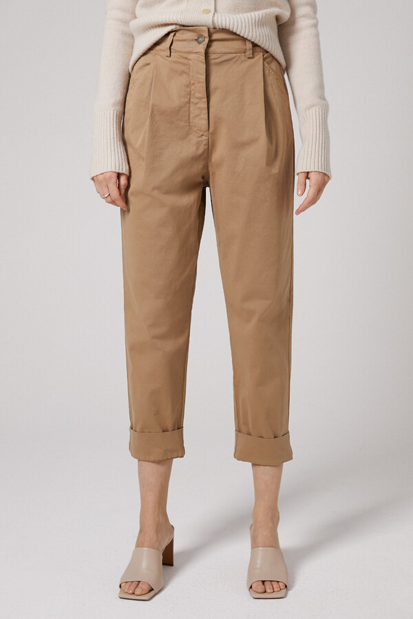 CASUAL TAPERED PANTS BRONZE
