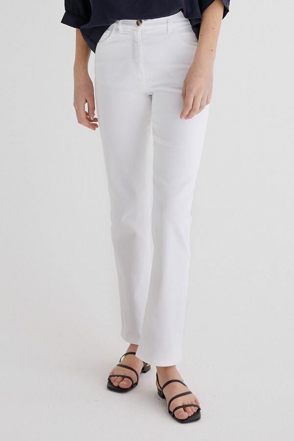 SLIM BOYFRIEND PANTS WHITE