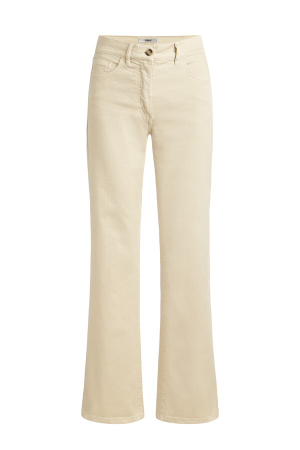FLARED TWILL PANTS LATTE