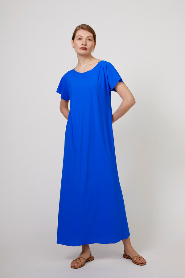 LONG RELAXED DRESS ROYAL BLUE