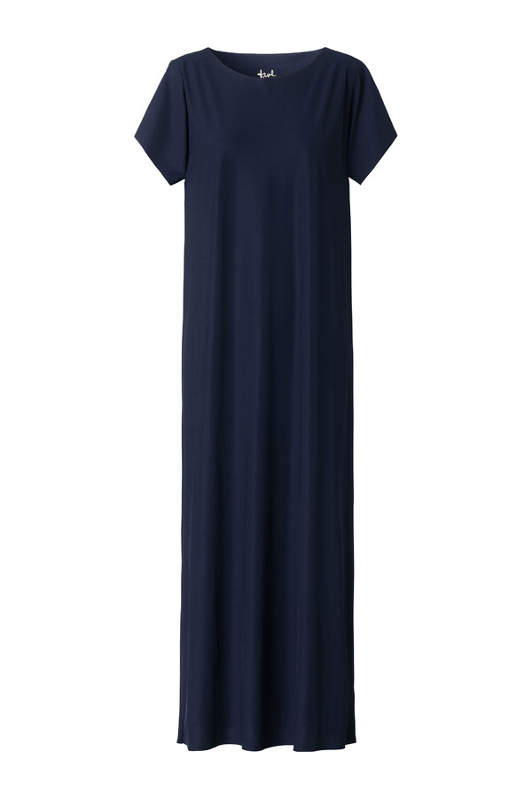 LONG RELAXED DRESS INK BLUE