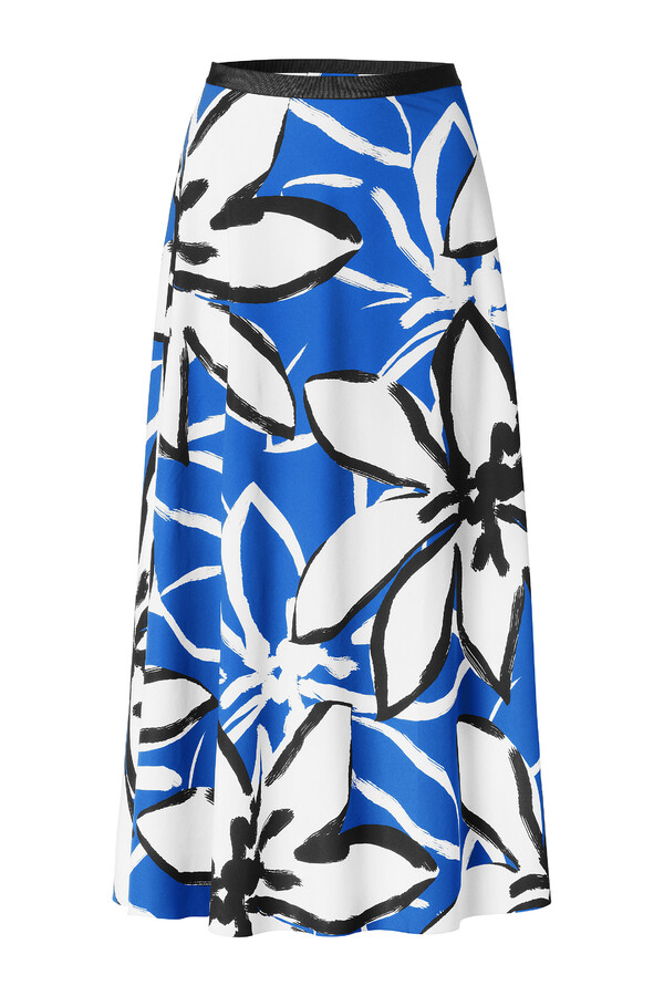 FLAIR SKIRT PRINTED ROYAL BLUE
