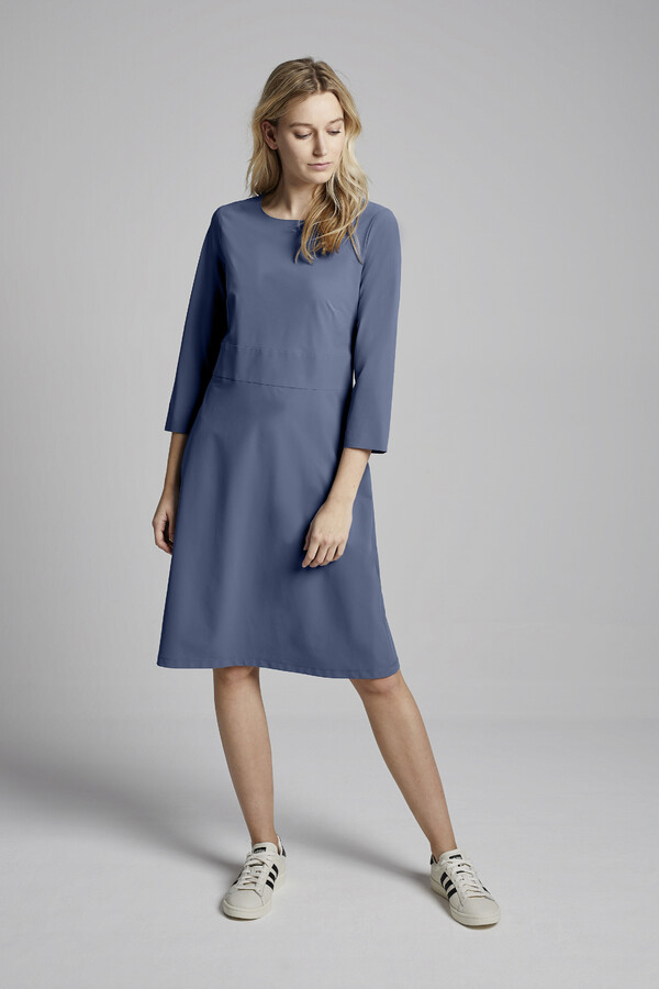 SUPER SHIFT DRESS BLUE GREY