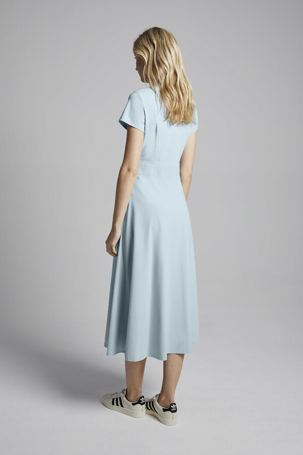 MIDI FLAIR DRESS AQUA