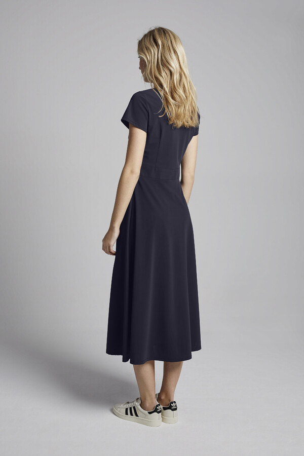 MIDI FLAIR DRESS INK BLUE