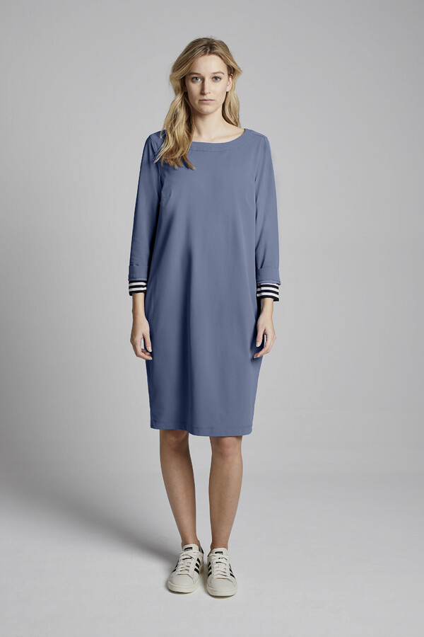 DAY DRESS BLUE GREY