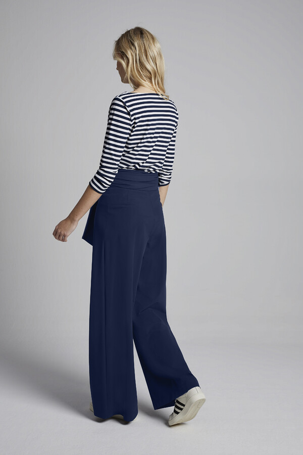 WIDE PANTS WARM BLUE