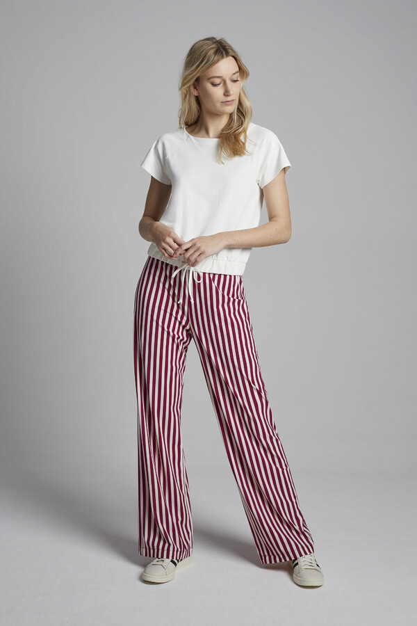STRIPE NEW TRAVEL PANTS MASAI RED