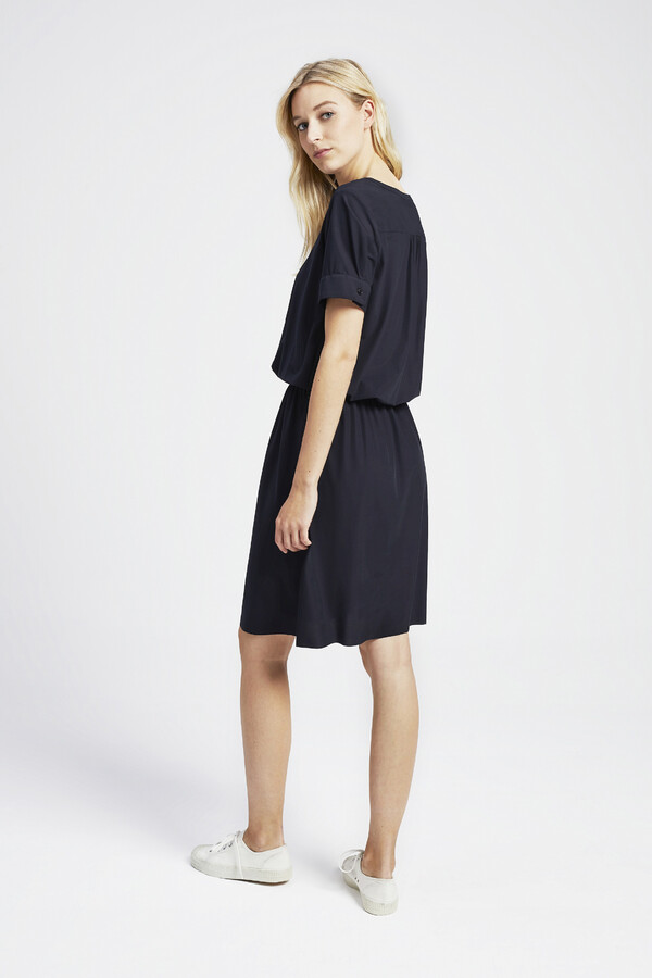 ELASTIC WAIST DRESS BLACK