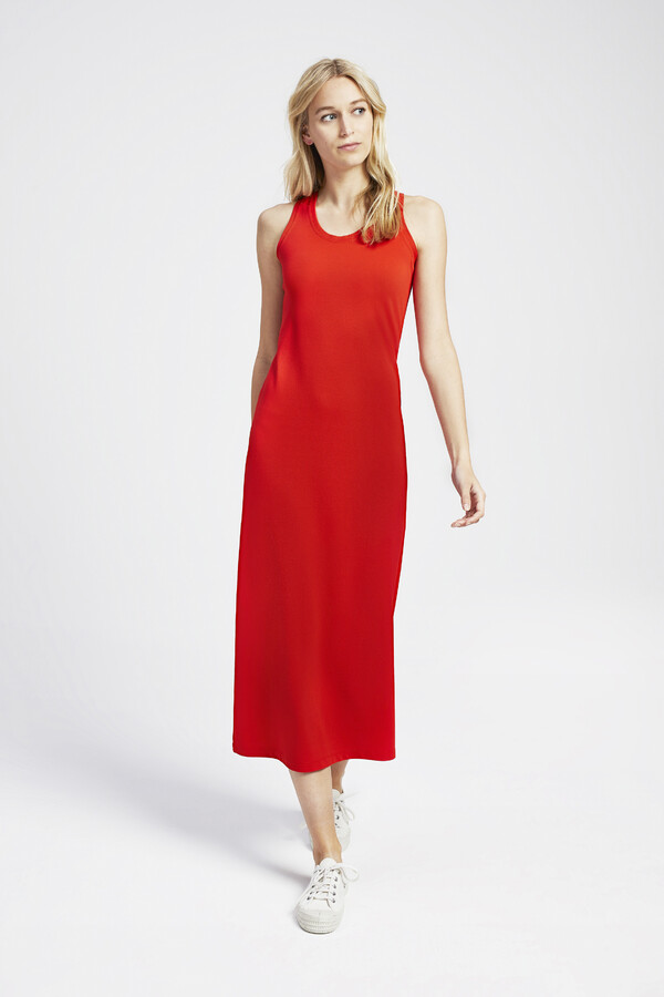 PIQUE TANK DRESS ORANGE