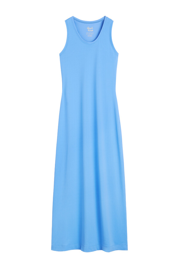 PIQUE TANK DRESS AIR BLUE