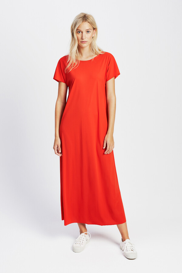 LONG RELAXED DRESS ORANGE