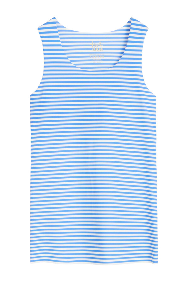 TANK TOP STRIPE AIR BLUE