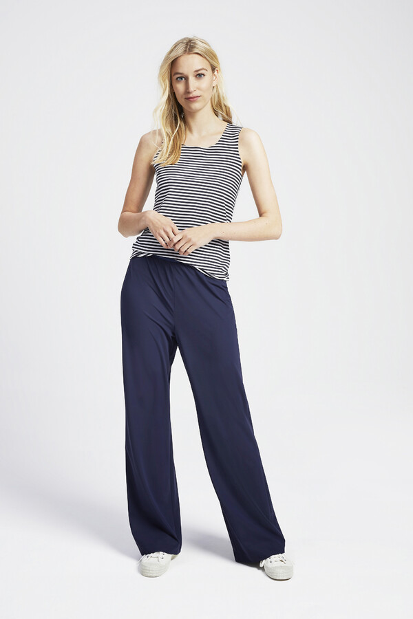 TANK TOP STRIPE SMOKEY BLUE
