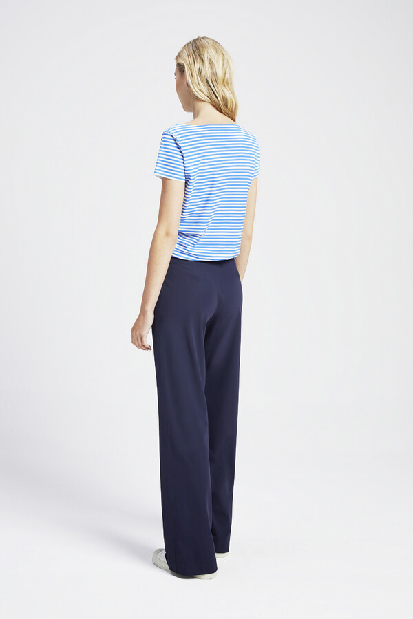 SHORT SLEEVE T STRIPE AIR BLUE