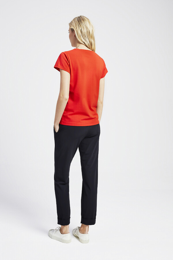 PIQUE ROUND NECK TEE ORANGE